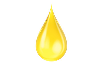 yellow oil drop, 3D rendering