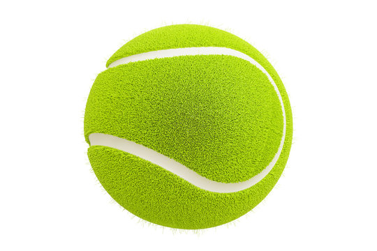 Tennis ball, 3D rendering