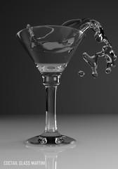 coctail glass martini 3D illustration