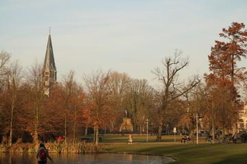 Landscape Vondelpark amsterdam holland