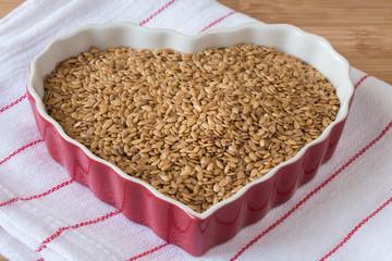 Heart healthy flaxseeds
