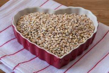 Organic hulled barley