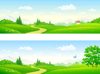 Summer path banners