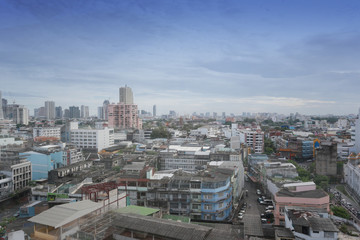 Bangkok City View in the daytime.