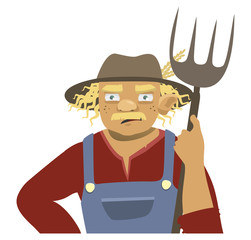 farmer on a white background. vector illustration