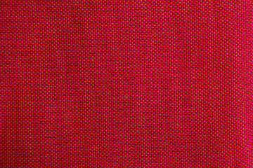 Wool fabric with red geometric pattern