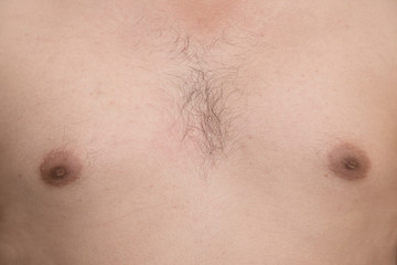 a man hairy chest