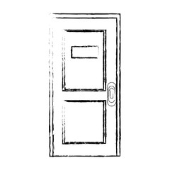 Office door isolated icon vector illustration graphic design