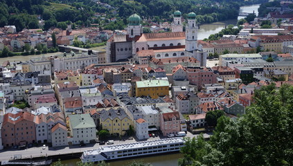The baroque city of Passau in Germany.