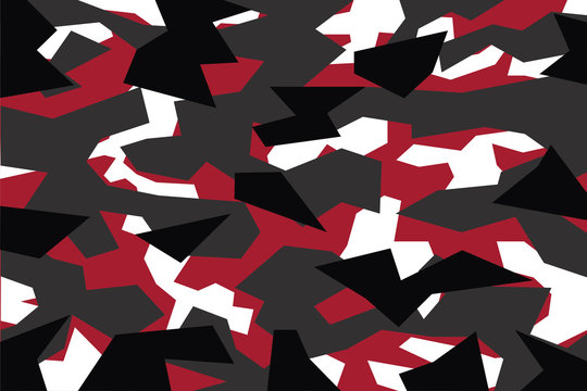 vector background of  red geometric camouflage