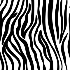 vector seamless black and white pattern of zebra