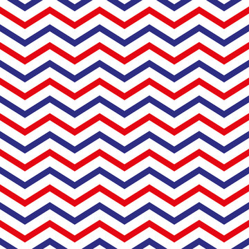 vector 4th of July seamless pattern with colorful zig-zags