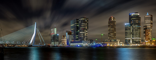 Canvas Prints Rotterdam Rotterdam nightsky