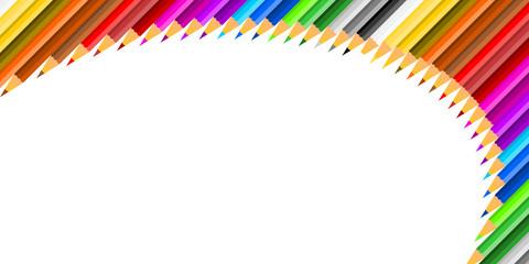 Crayons de Couleurs Courbe Haut