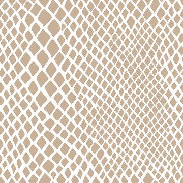 vector seamless beige pattern of snake