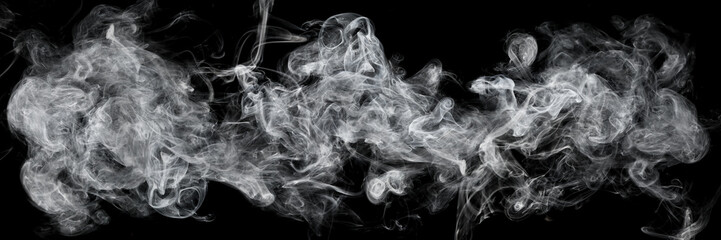 Fototapeten Rauch white smoke isolated on black