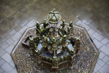Fountain in the castle, Linlithgow, Scotland
