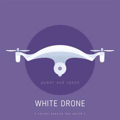 Drone vector icon with quality linear graphics and  futurism style.