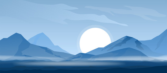 Simple mountain background