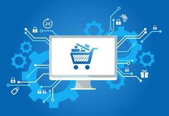 Safe Online Shopping Vector