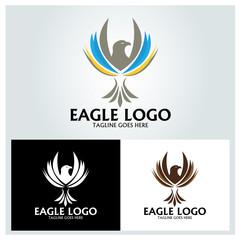 Eagle logo design template. Vector illustration