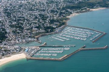 Vue aérienne du port de Quiberon en France