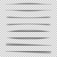 Paper Sheet Shadow Effect isolated on transparent background. Vector illustration.