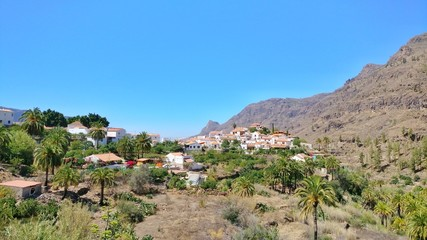 Fataga. The small artists village high in the canary mountains