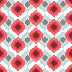 Seamless vector pattern with in ikat style.