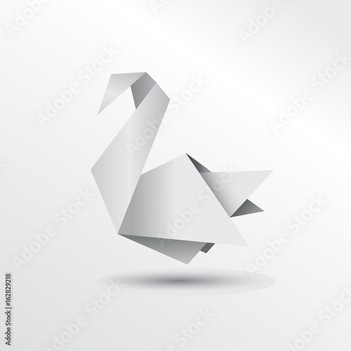 Origami Swan Stock Image And Royalty Free Vector Files On Fotolia