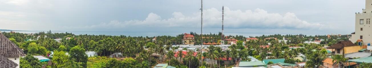 Big panorama of the city of Muine Vietnam. View from Muine Hills