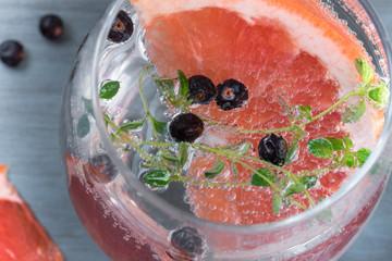Grapefruit and Juniper Berry gin and tonic