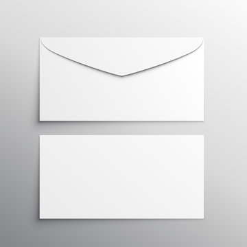 envelope front and back mockup template