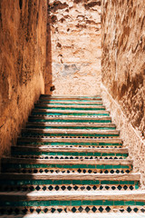Canvas Prints Stairs ornamental stairs at marrakech, morocco