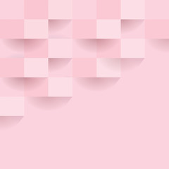 Pink geometric pattern, abstract background template.