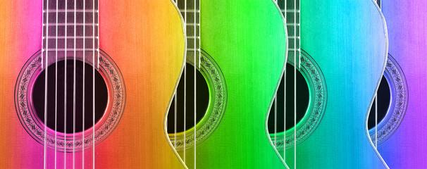 Fondo de música con guitarras españolas. Instrumentos musicales