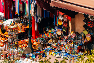 colorful handracts at moroccan shop