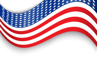 Usa flag design that can use to represent indepedence day or memorial day event. This provides empty space on the top and bottom for text.