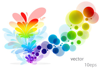 Abstract  colorful  background.vector