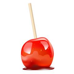 pomme d'amour - bonbon - sucrerie - enfant - gourmand - gourmandise - fête foraine