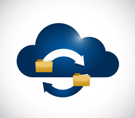 cloud computing data storage cycle icon