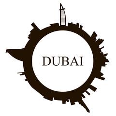 Isolated Dubai skyline