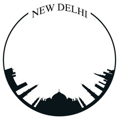 Isolated New Delhi skyline