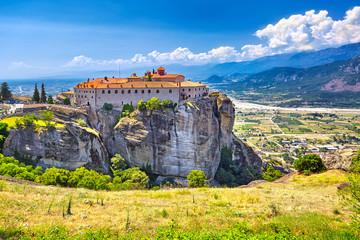 Meteora monasteries, Greece Kalambaka. UNESCO World Heritage sit Wall mural