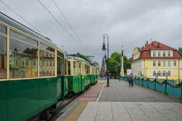 CITY TRANSPORT - Historic tram on the urban trail