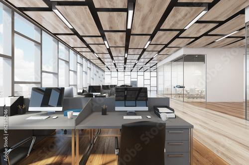 Schreibtisch für open space aluminium modern objektmöbel