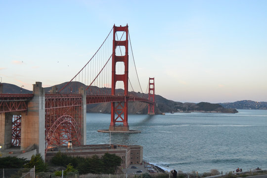 View of Golden Gate Bridge from the Welcome Center, San Francisco, California