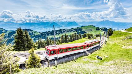 Rigi Bahn, Vierwaldstättersee, Zentralschweiz, Schweiz, Europa