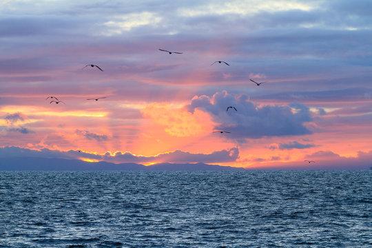 Southern California Beach Sunset over the Ocean