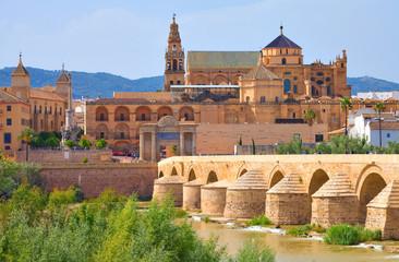 Cordoue, la mosquée-cathédrale et le pont romain